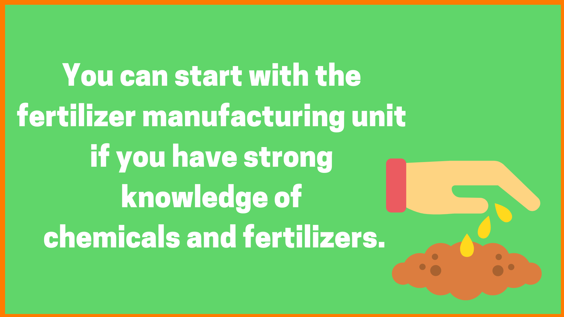 manufacturing agricultural fertilizer
