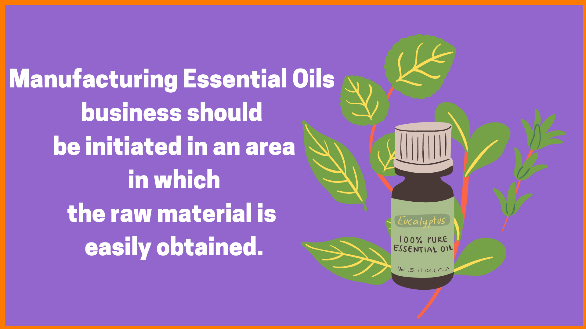 manufacturing essential oil
