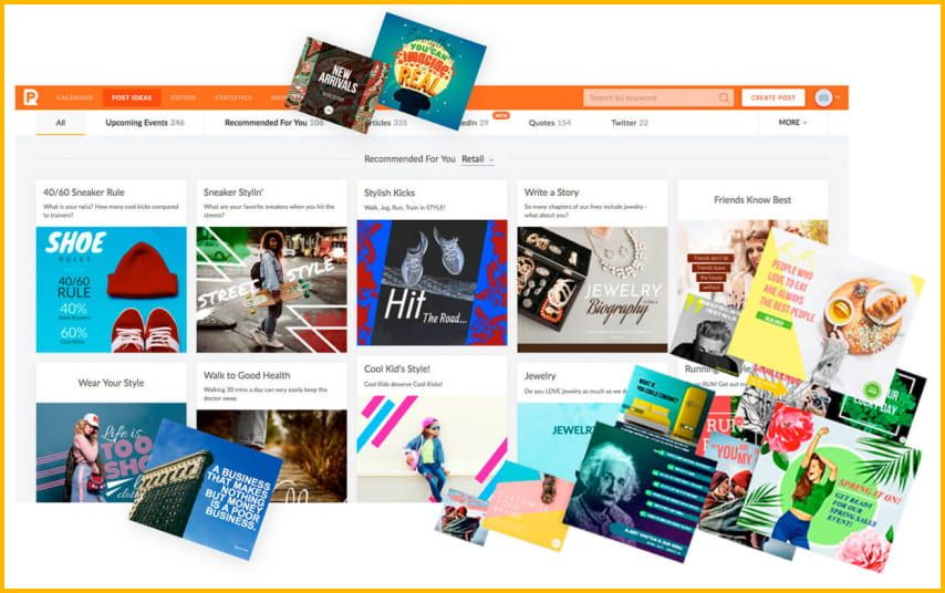 PromoRepublic offers over 7500+ templates and 100,000+ images