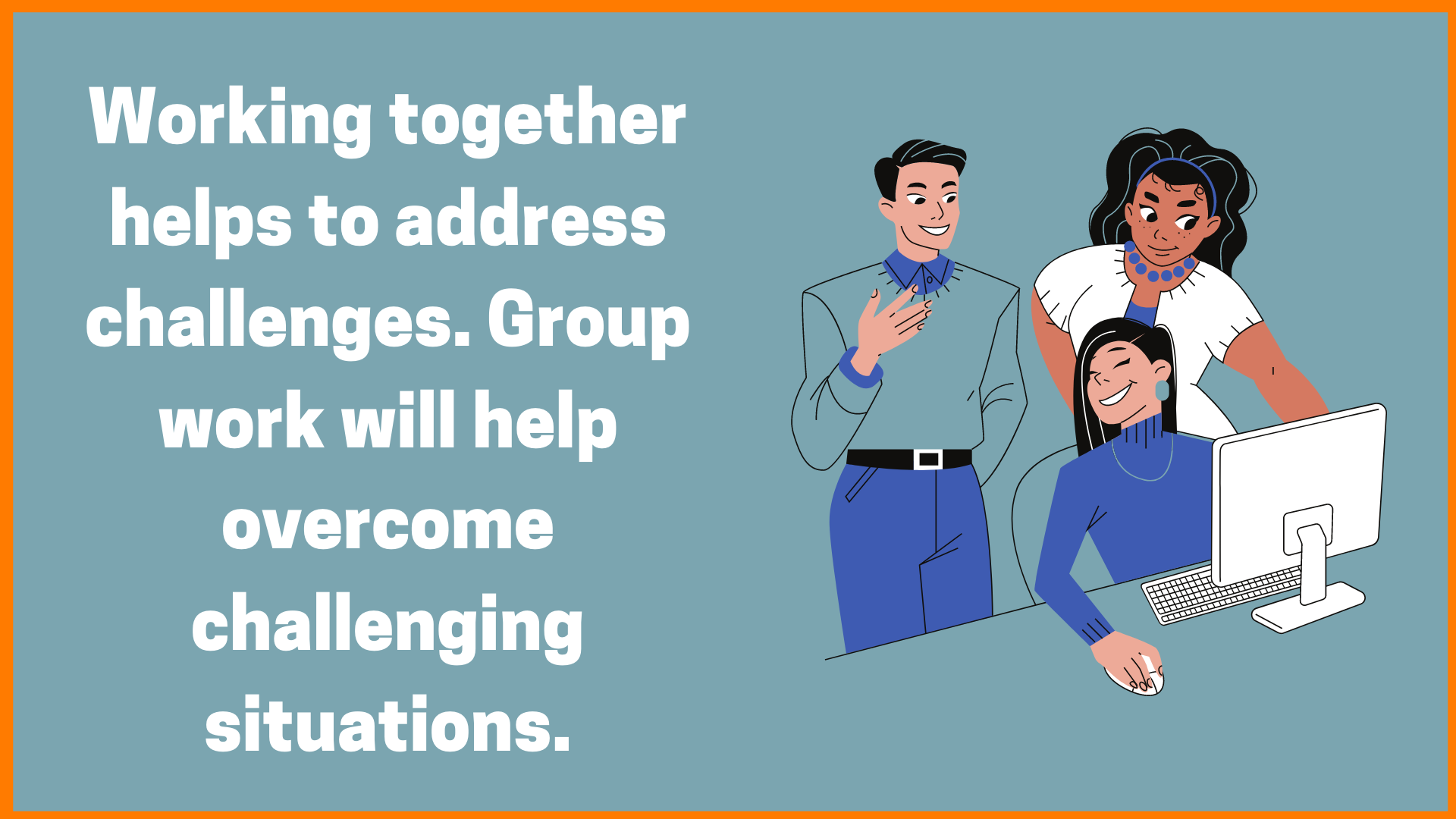 Working as a Team Solves Problem Faster