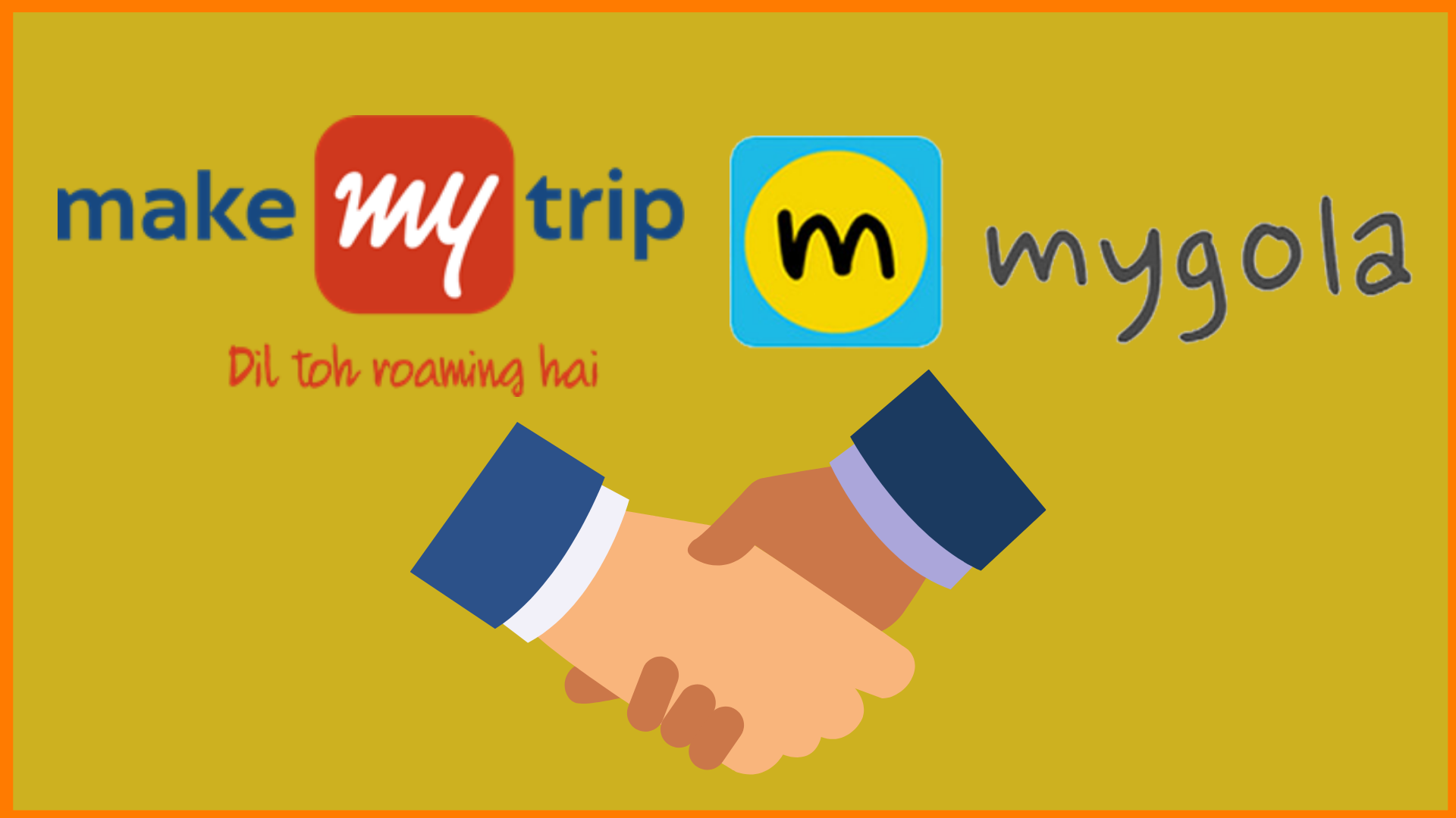 MakeMyTrip and Mygola Logo