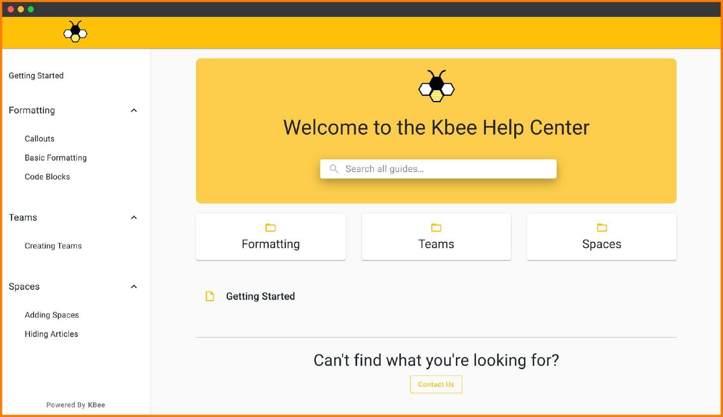 Kbee Dashboard