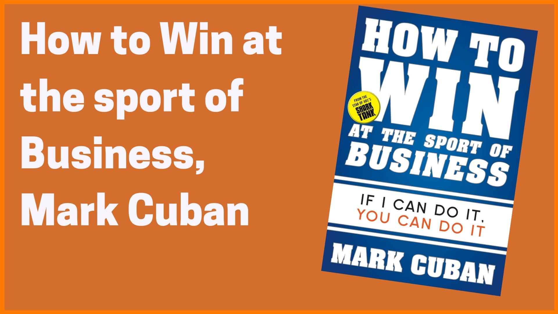 Mark Cuban book