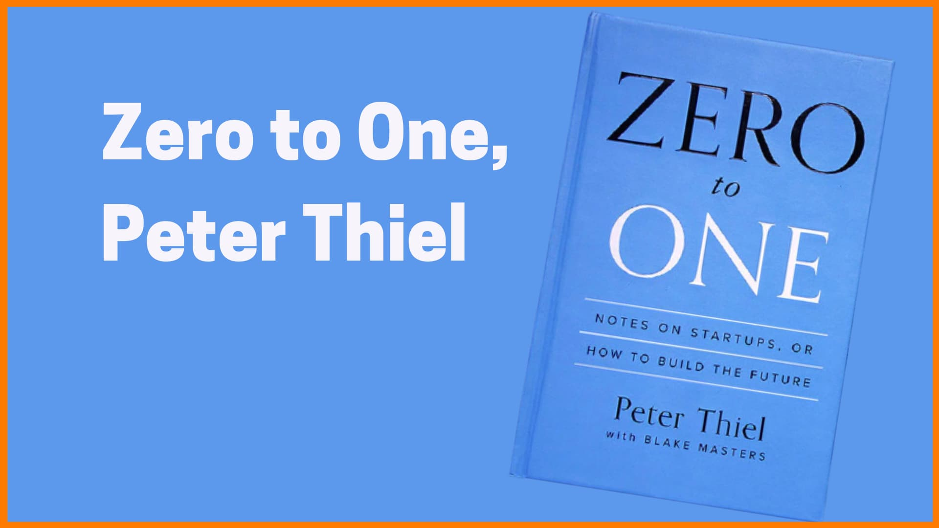 Peter Thiel book