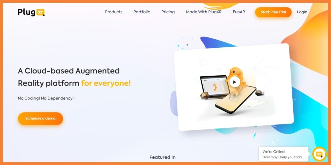Plugxr no code AR Platform
