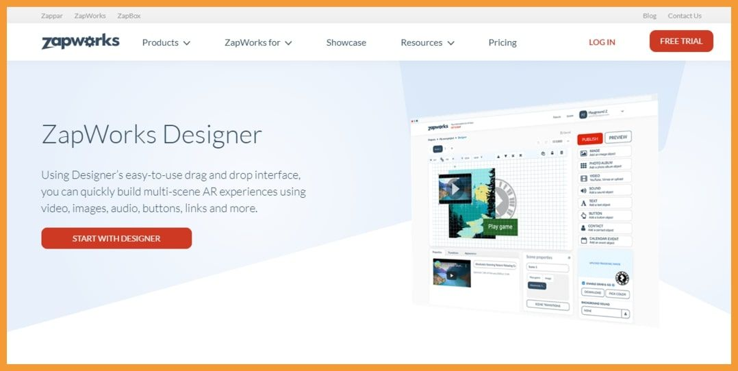 Zapworks no code AR Platform