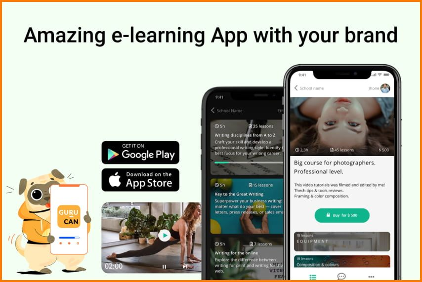 Gurucan: Launch live seminars, online courses and much more