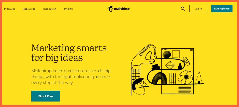 mailchimp-landing-page-builder-Startuptalky