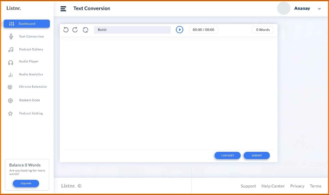 Listnr lets you use multiple features for your audio content