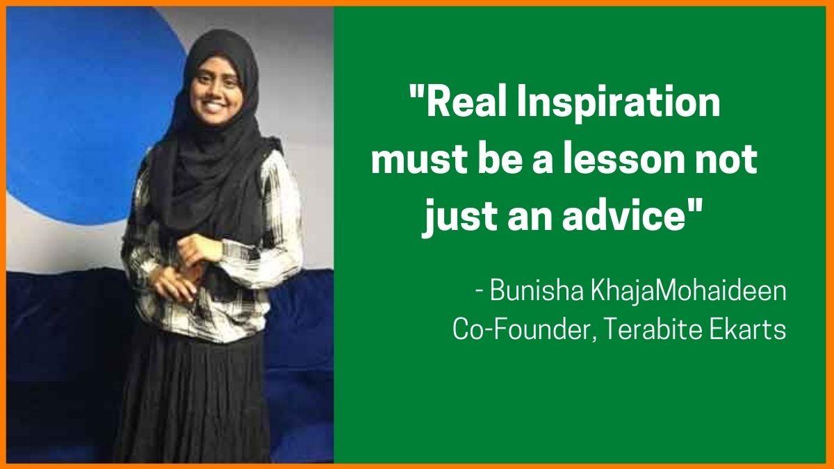 Bunisha KhajaMohaideen - Co-Founder, Terabite Ekarts