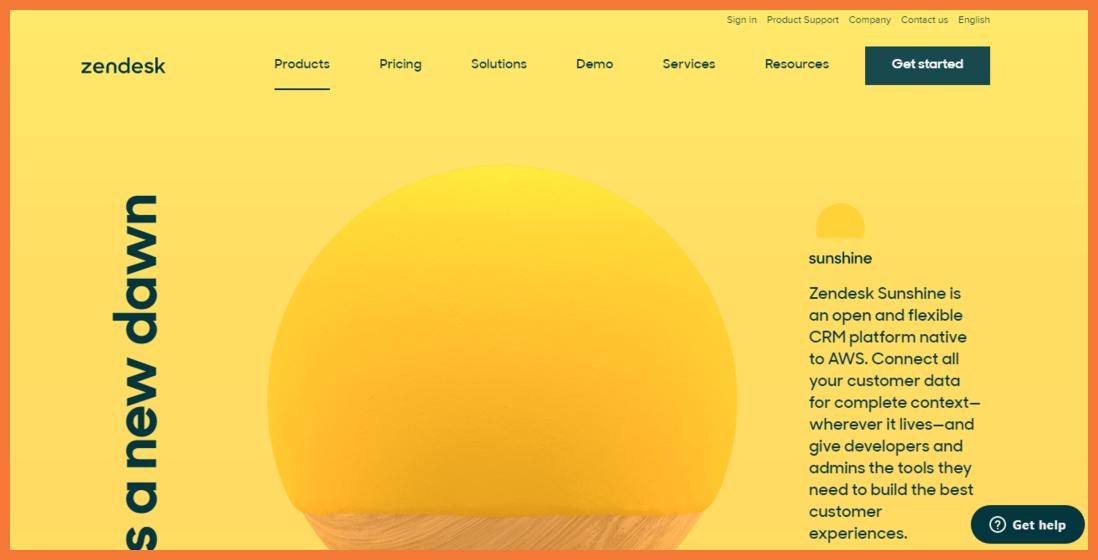 Zendesk-Sunshine-no-code-CRM-StartupTalky