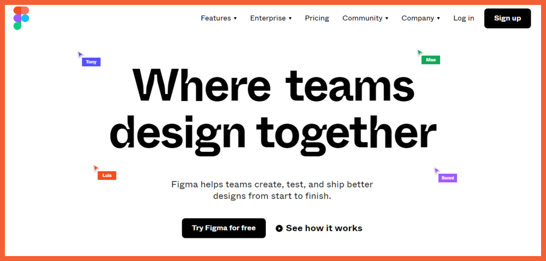 Figma No code Designing Tool