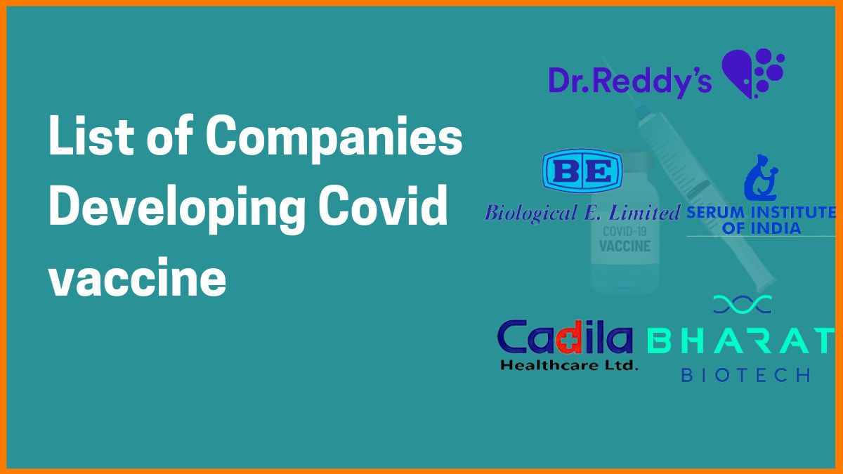 List of Biotech Companies that are Developing Covid vaccine