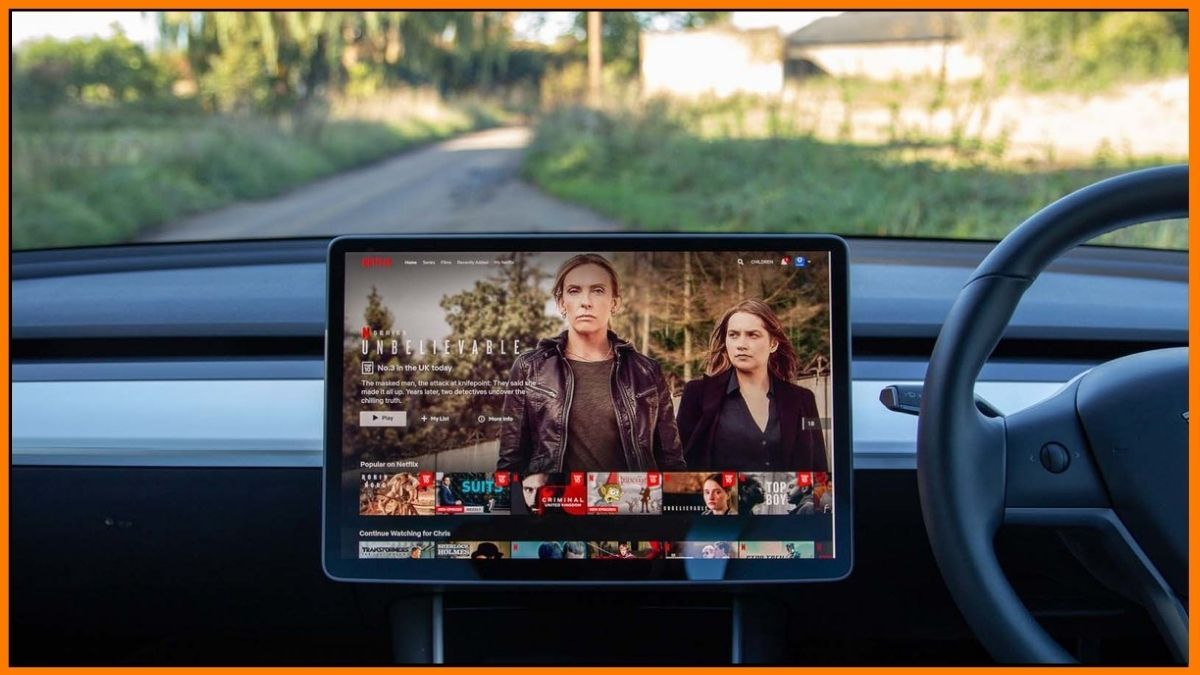 Netflix can be streamed on Tesla
