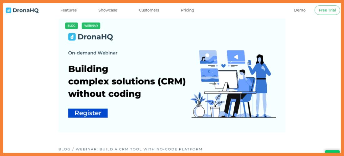 DronaHQ No Code CRM Development Platform