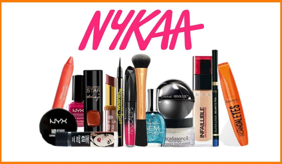 Nykaa logo and products