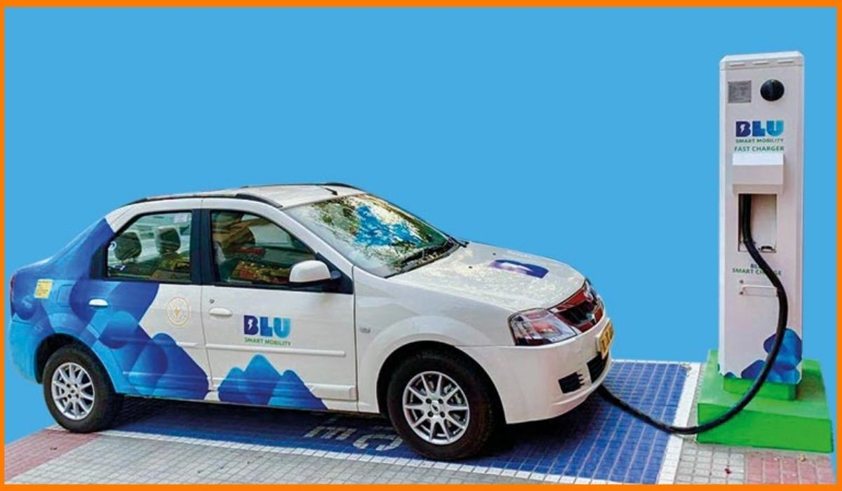 An example of the Blusmart car