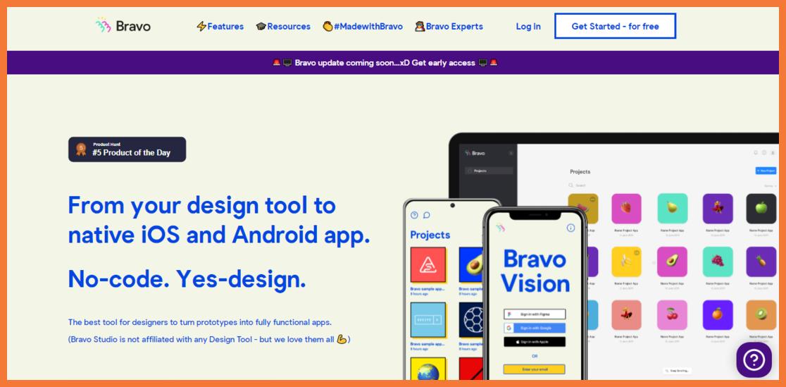 Bravo Studio No code Designing Tool