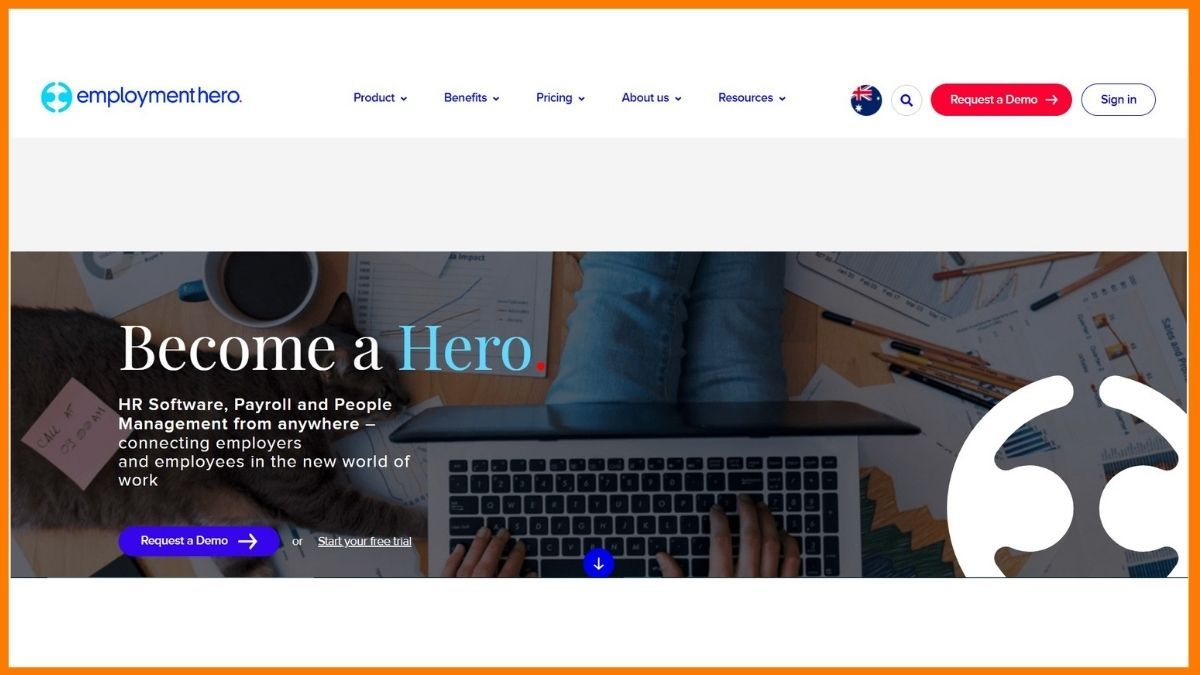 employment hero Website