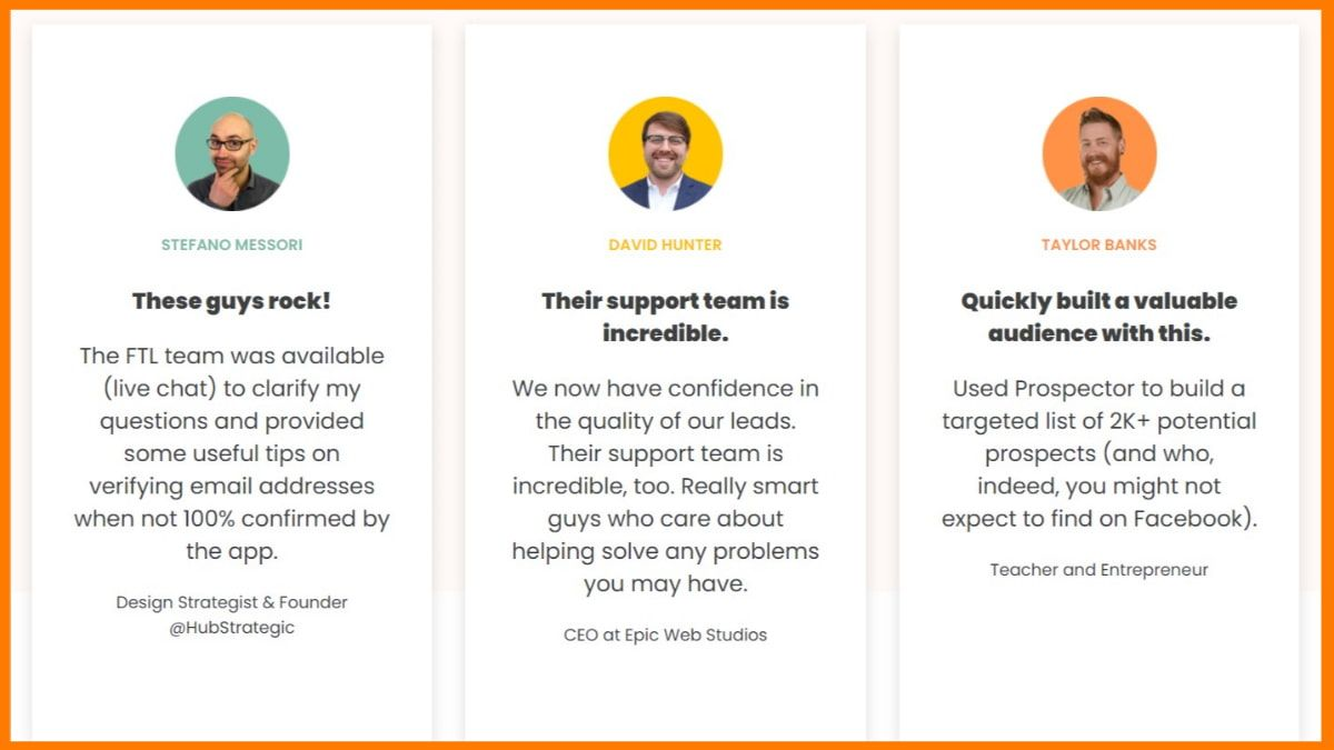 Reviews by FindThatLead users