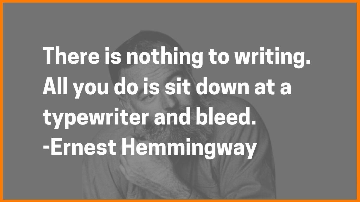 Hemmingway Quote
