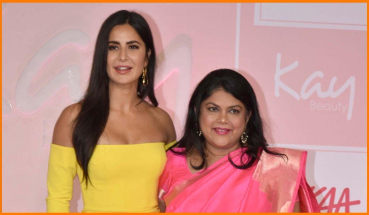 Katrina Kaif with Falguni Nayar, the founder of Nykaa
