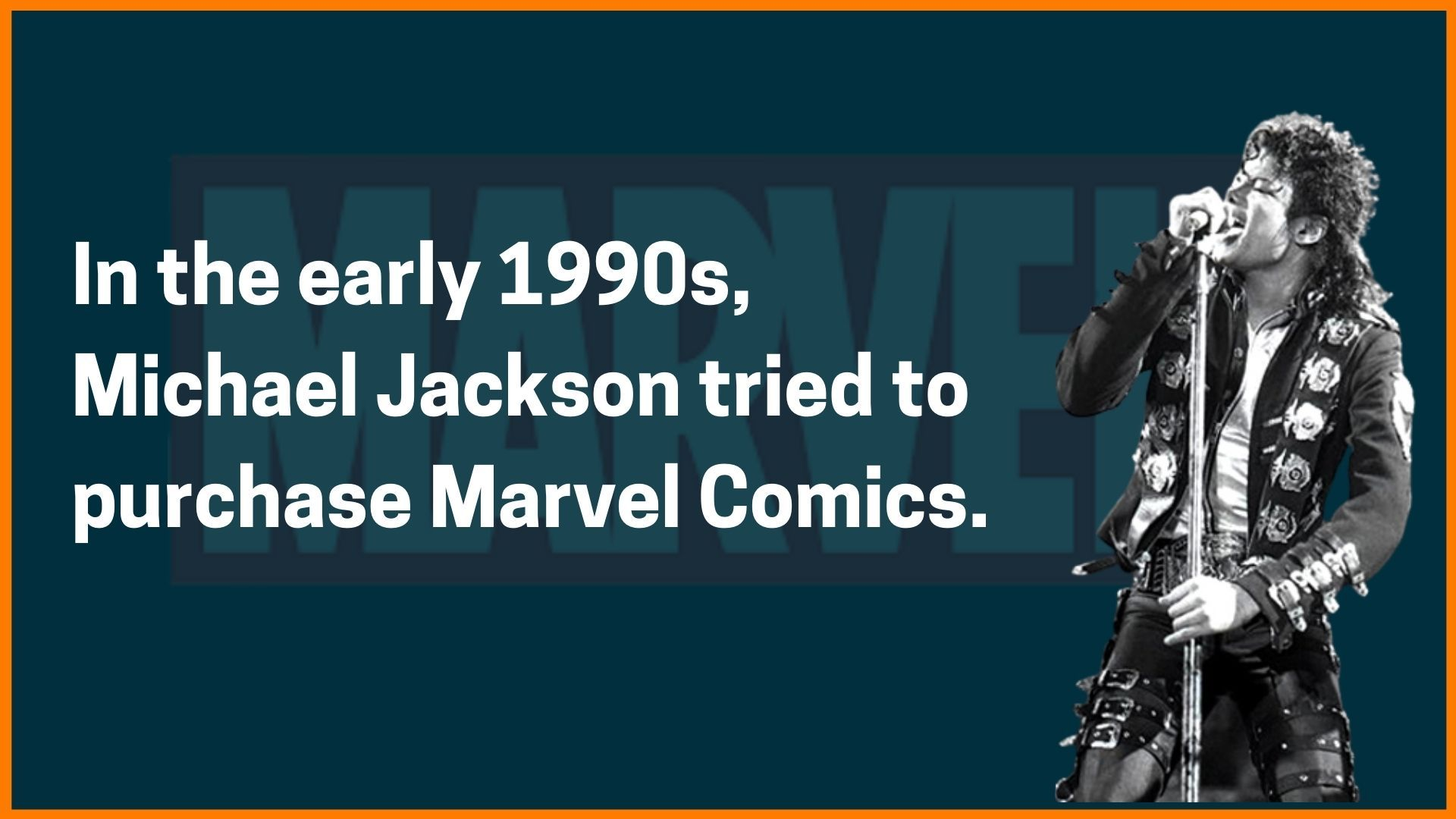 Michael Jackson tried to purchase Marvel comics