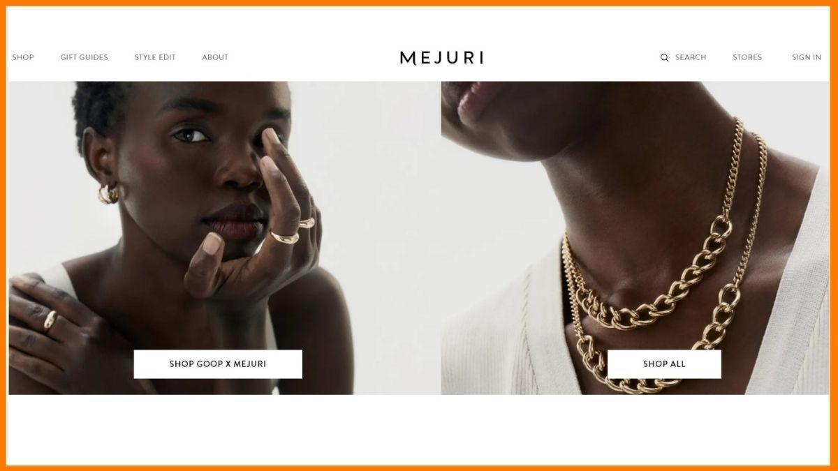 Mejuri Website