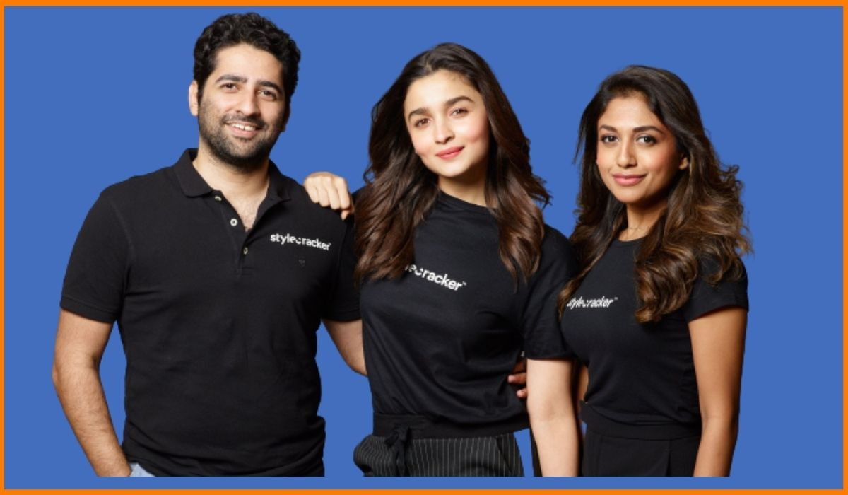 Alia Bhatt with the founders of Stylecracker Dhimaan Shah and Archana Walavalkar