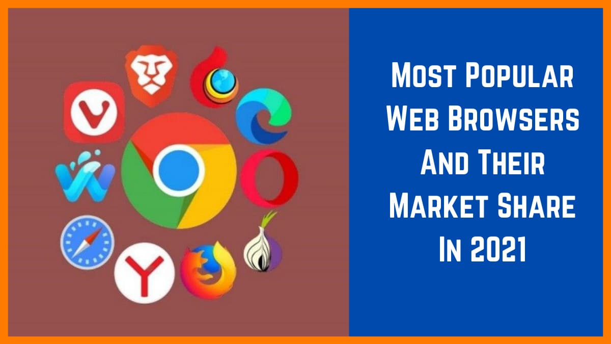 Most Popular Web Browsers And Their Market Share In 2021