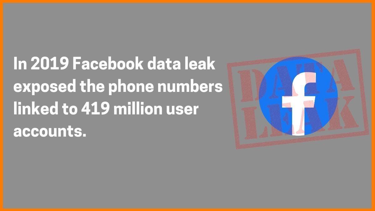2019 Facebook Data Leak