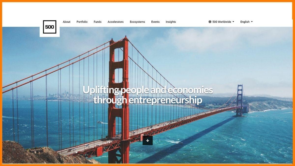 500 Startups Website