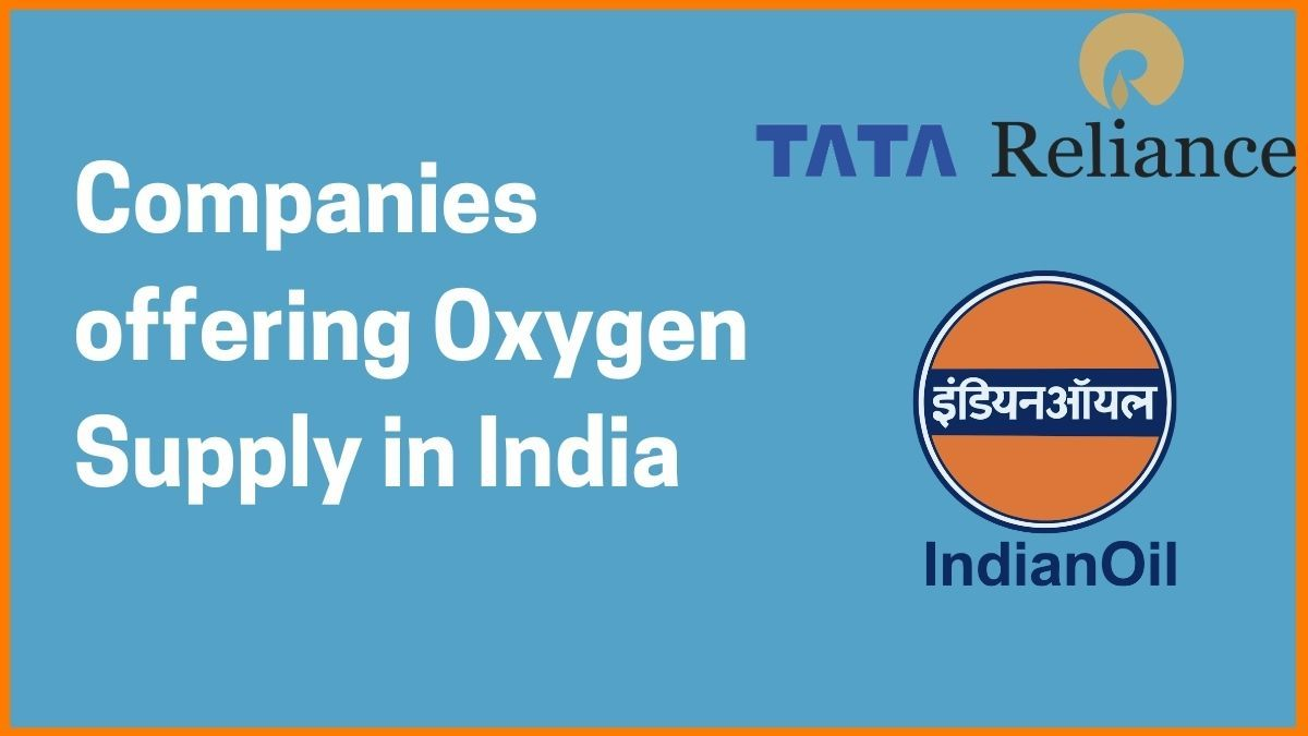 List of Companies supplying Oxygen in India