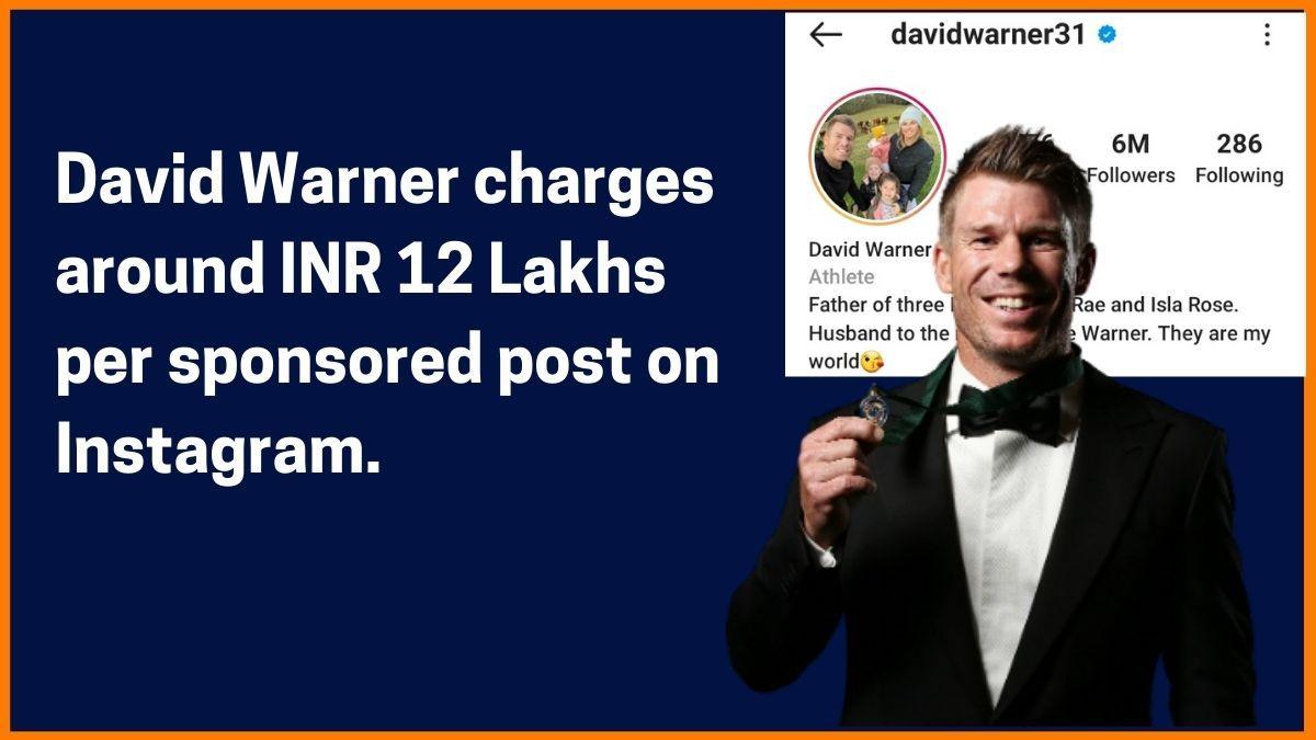David Warner Instagram Charge
