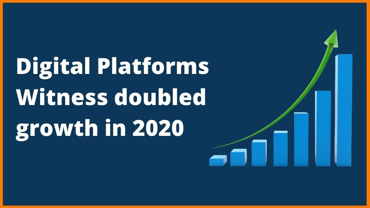 How did Digital Platforms doubled their growth in 2020
