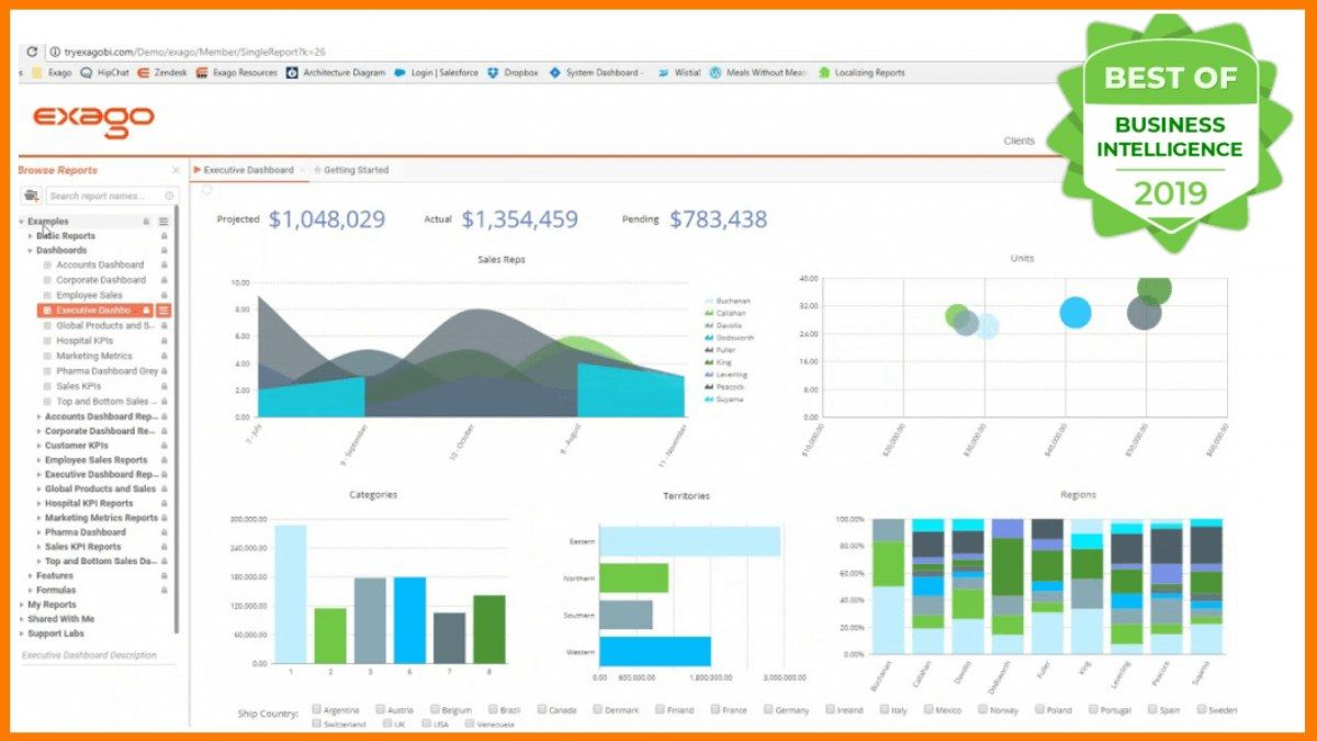 Exago Business Intelligence (BI) Tool