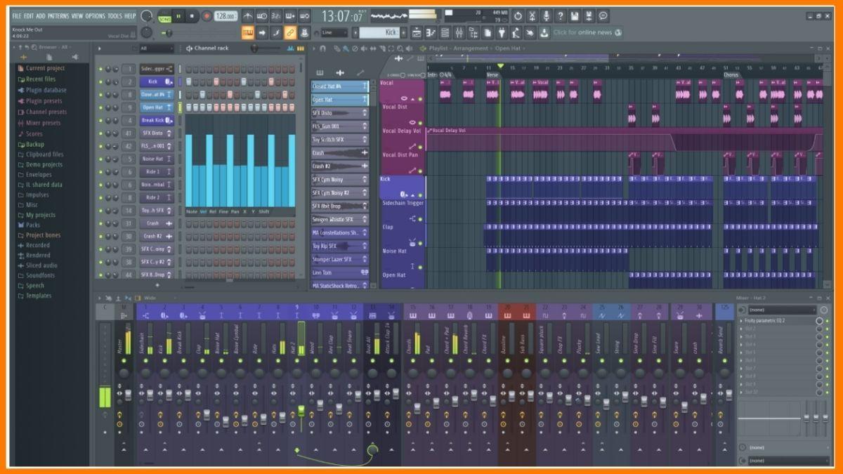 FL studio audio editing software