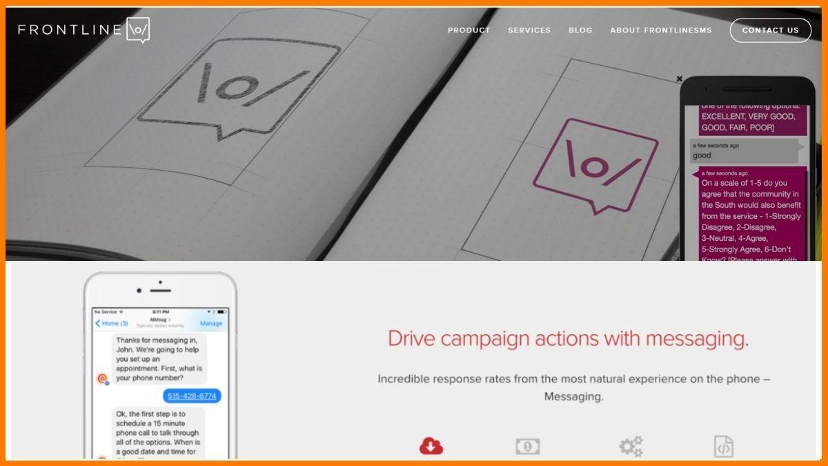 Frontline Website SMS marketing