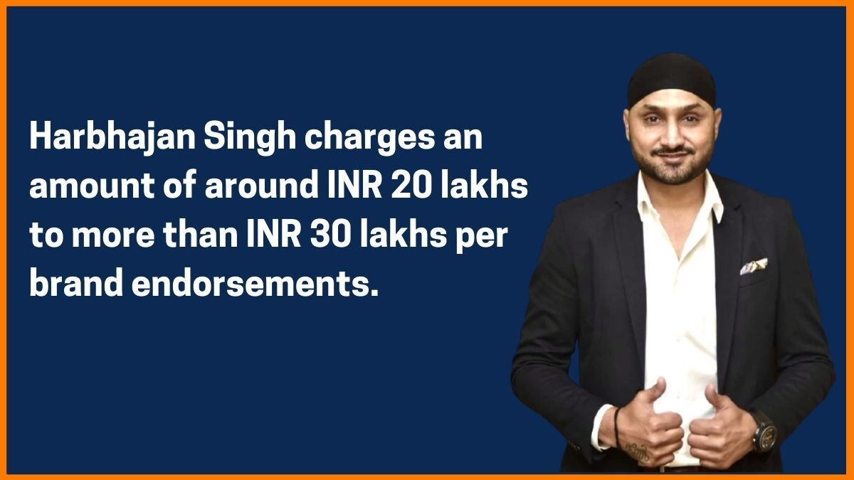 Harbhajan Singh Endorsement fee