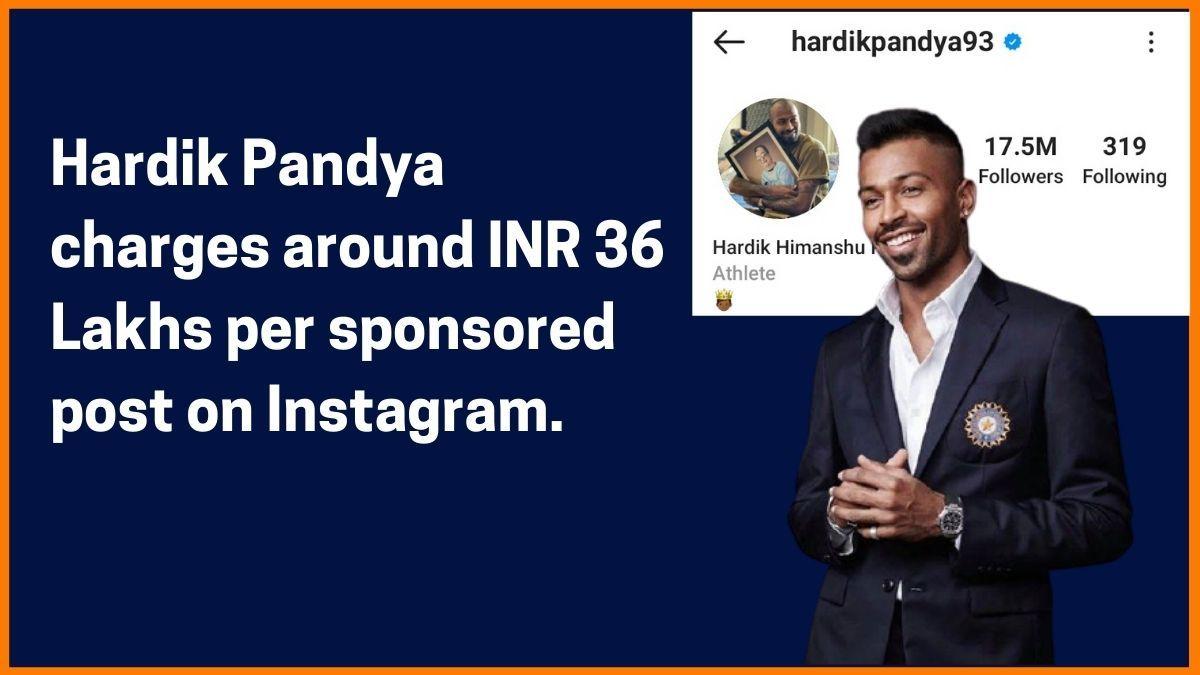 Hardik Pandya Instagram Charge