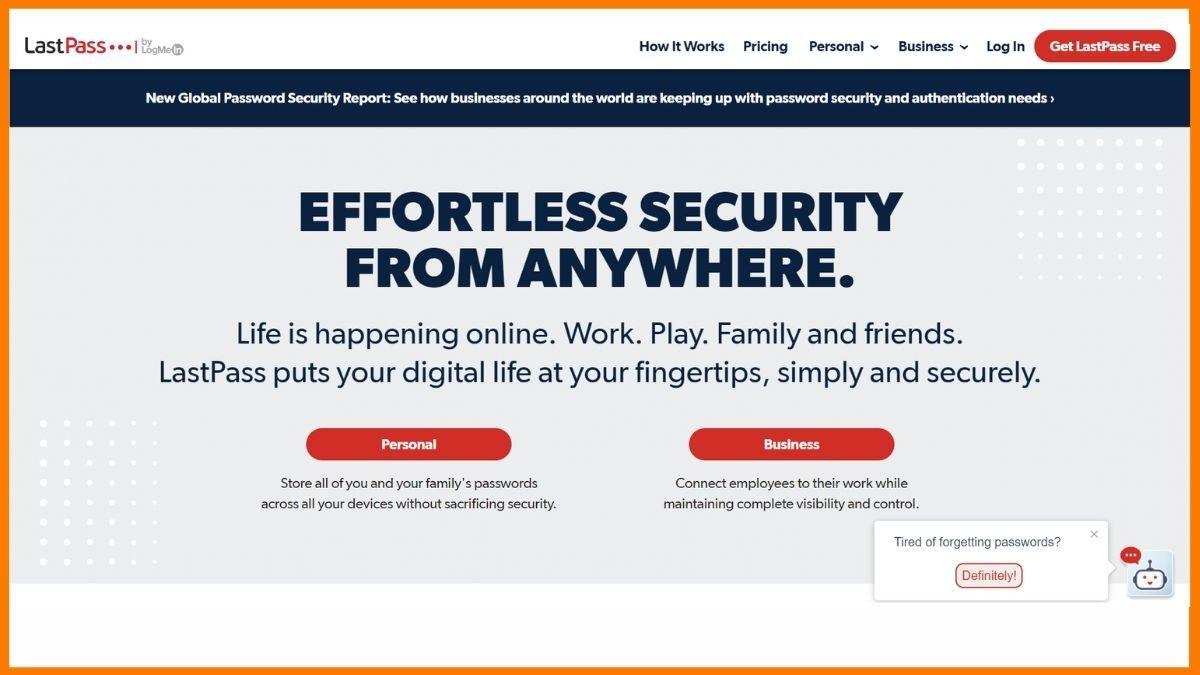 Lastpass Website