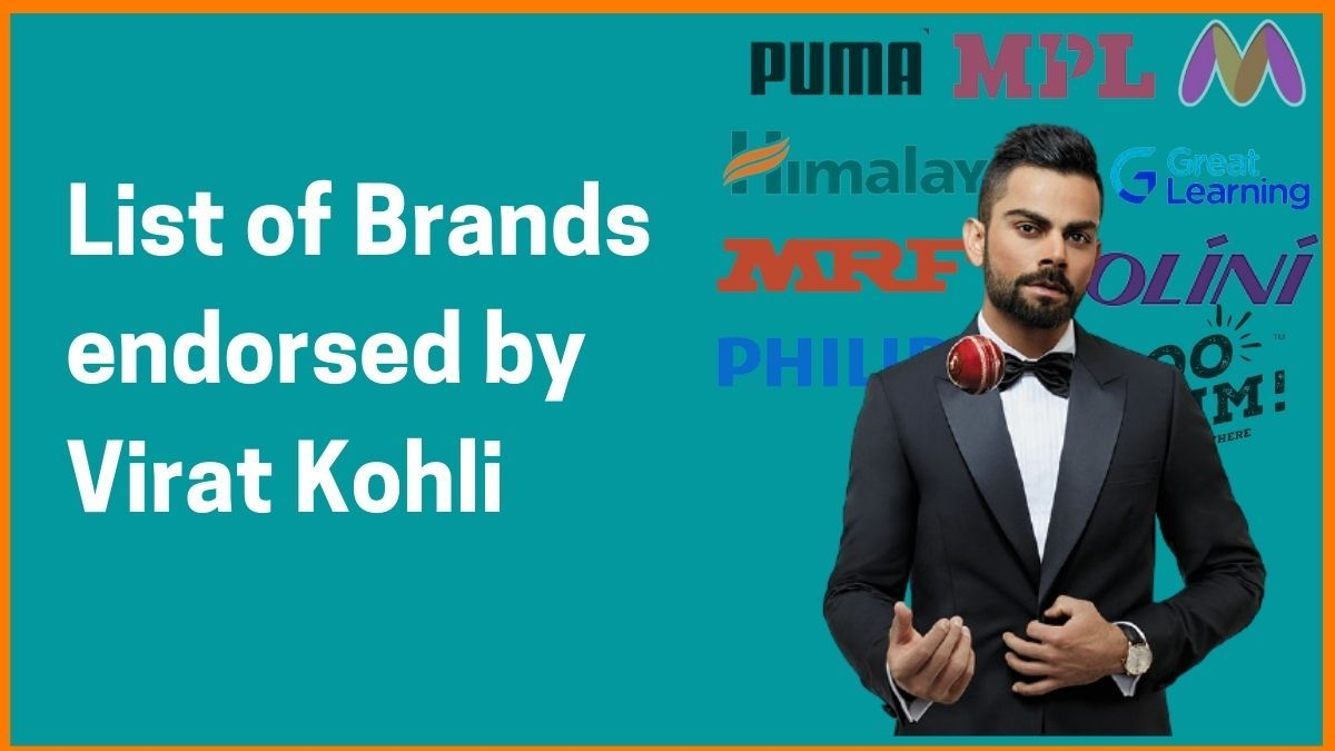 List of Brands Endorsed by Virat Kohli