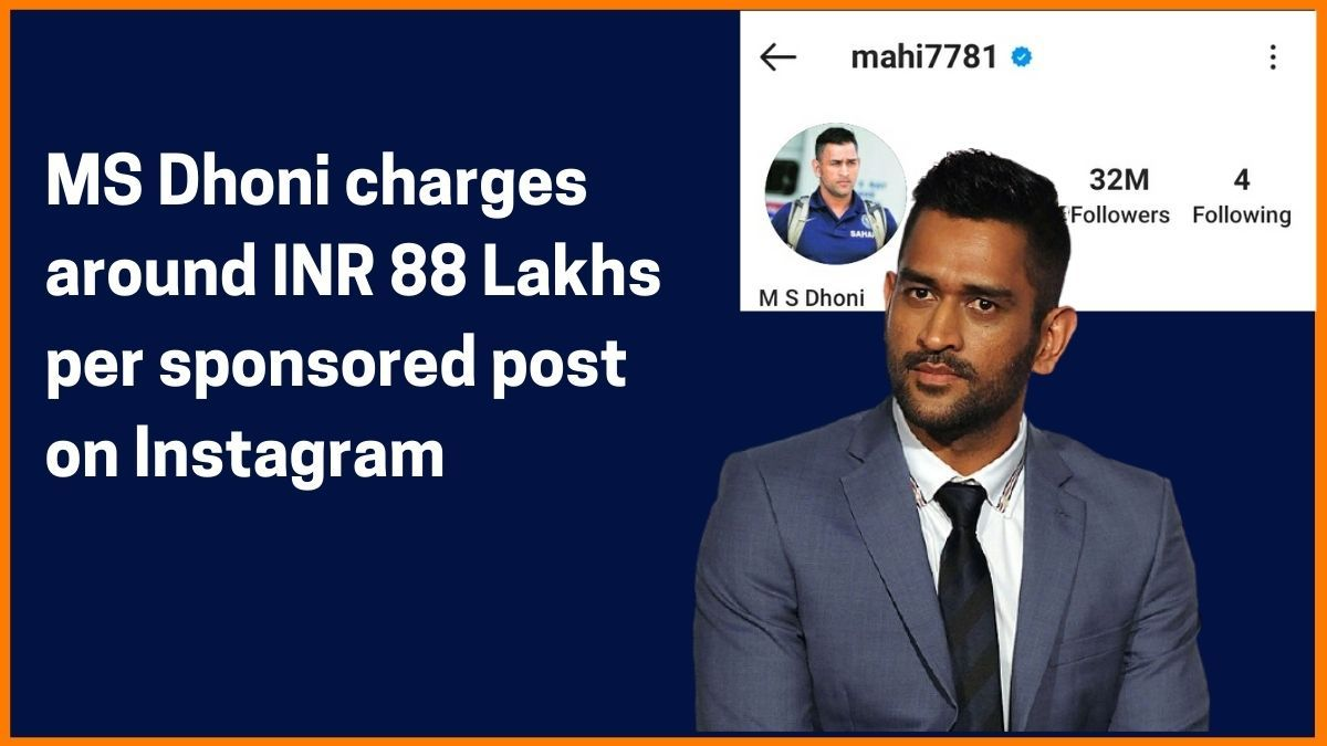 MS Dhoni Instagram Charge