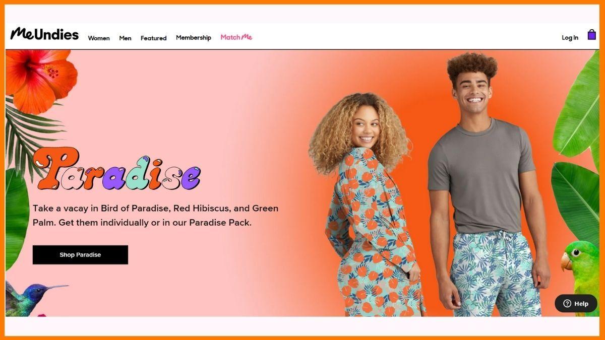 MeUndies Website