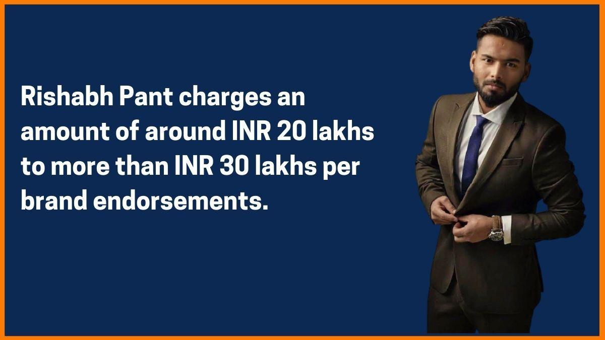 Rishabh Pant Endorsement Fee