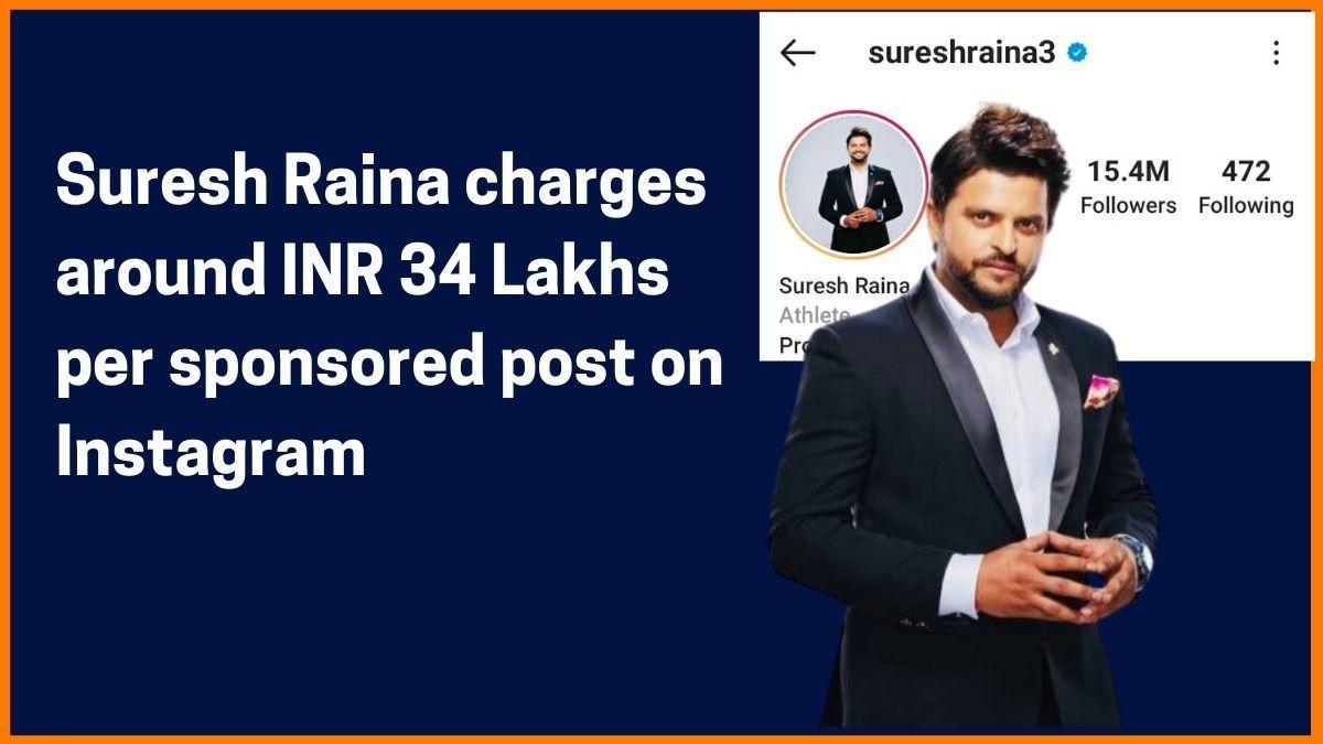 Suresh Raina Instagram Charge
