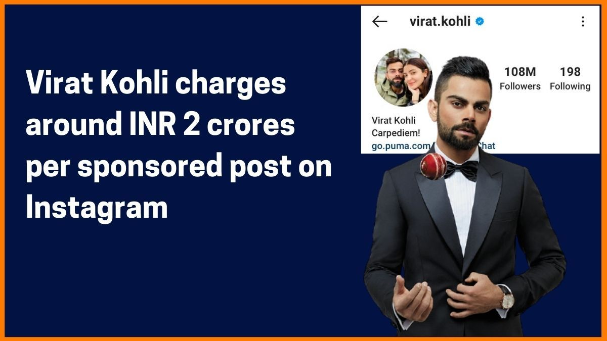 Virat Kohli Instagram Charge
