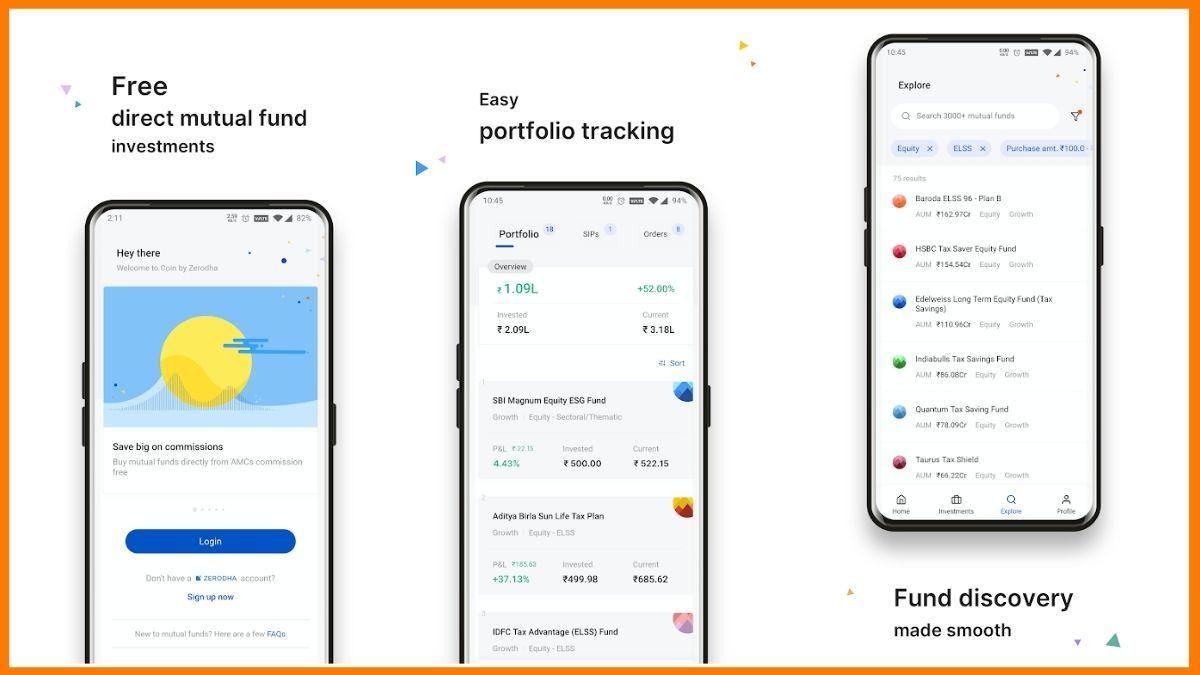 Zerodha coin Mobile app