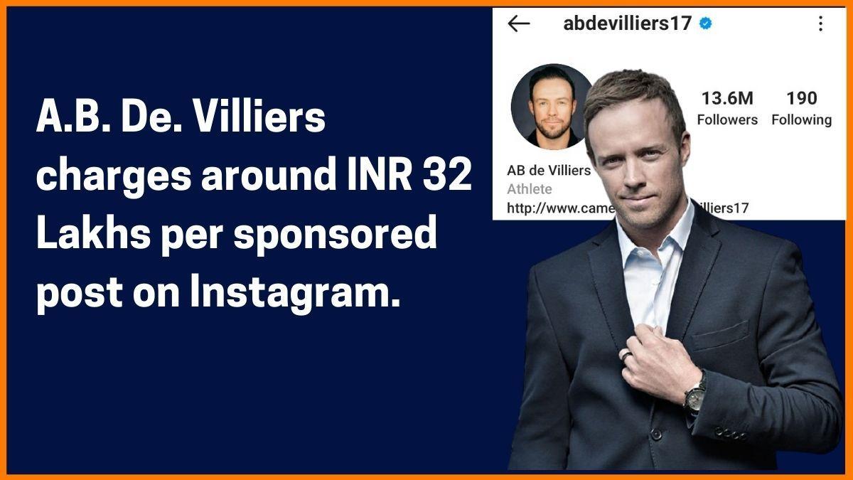 A.B. De. Villiers Instagram Charge
