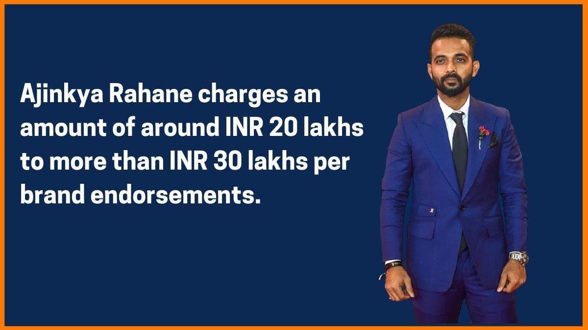 Ajinkya Rahane Endorsement fee